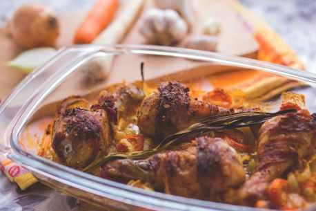 blur chicken cooking cuisine