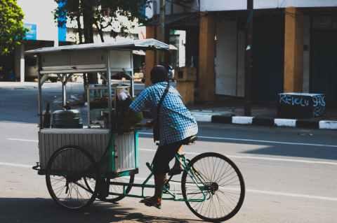 white food cart